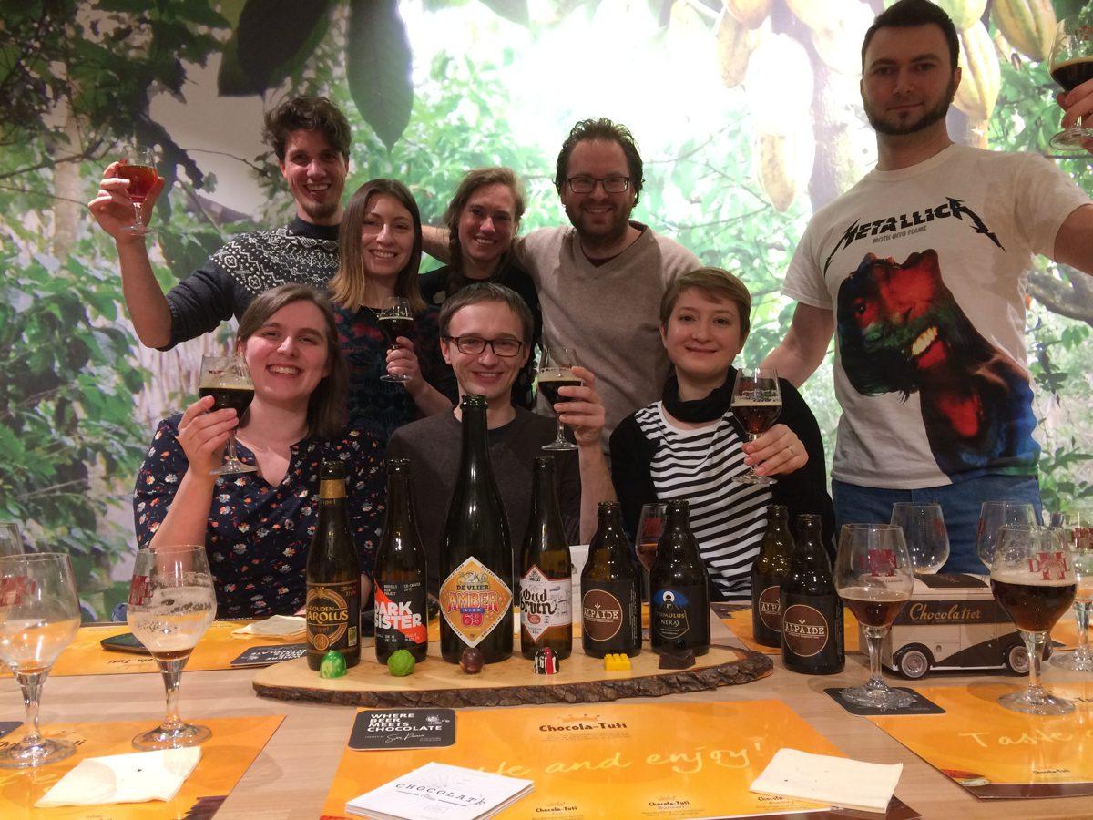 Bier-en-chocolade-pairing-8-groepsfoto Beer and chocolate pairing