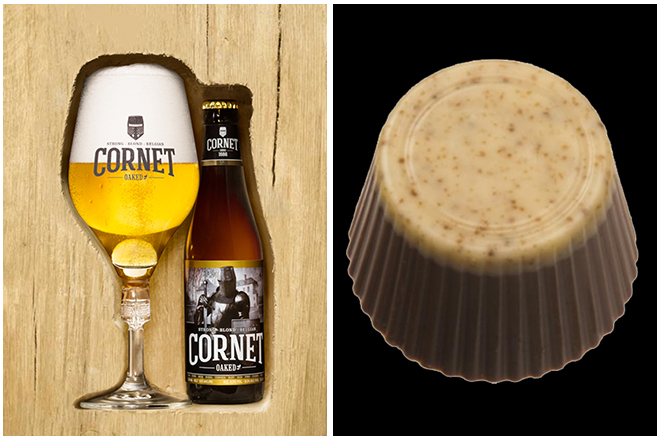 Combinatie-bier-en-chocolade-5-cornet-en-creme-brulée-praline Combining beer and chocolate