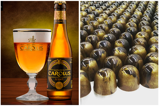Combinatie-bier-en-chocolade3-gouden-carolus-tripel-en-apfelstrudel-praline Bier en chocolade combineren
