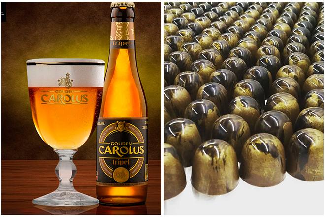 Combinatie-bier-en-chocolade3-gouden-carolus-tripel-en-apfelstrudel-praline Les associations bière & chocolat