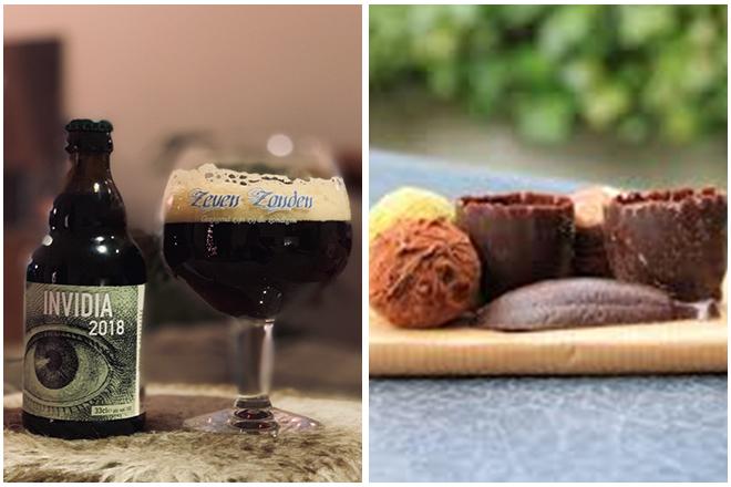 combinatie-Invidia-chocoladebier-en-bitterbal-bittersweet Bier en chocolade combineren